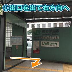 あおば通駅からの道順1